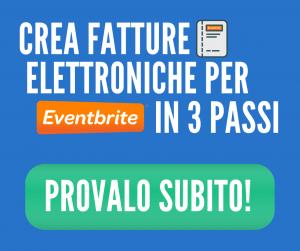 Crea fatture elettroniche per Eventbrite in 3 passi